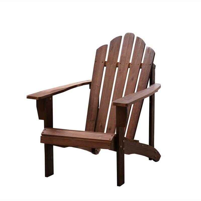 Canas Outdoor Leisure Solid Wood Adirondack Chair